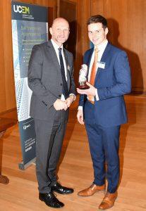 Academic excellence award winner Elias with Ashley Wheaton