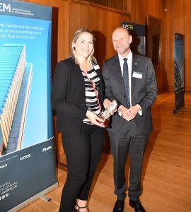 Alumni of the year winner Laura Collins