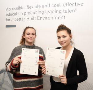 Nicole and Georgia with their awards