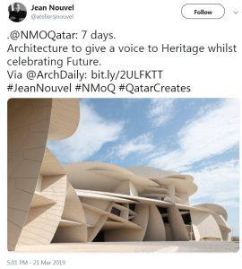 Jean Nouvel's tweet