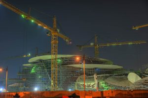 Construction of the Desert Rose Museum taking place