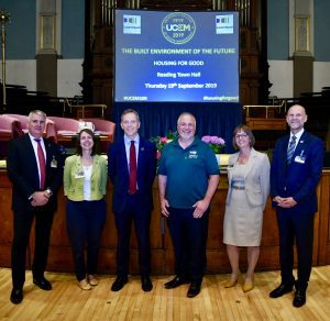 The speakers at Reading Town Hall