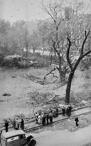 Destruction at Lincoln's Inn Fields after the Blitz