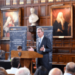 Andrew Hynard introduced the speakers in The Great Hall