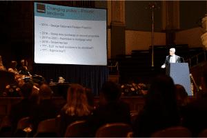 Steve Woodford addressig the audience