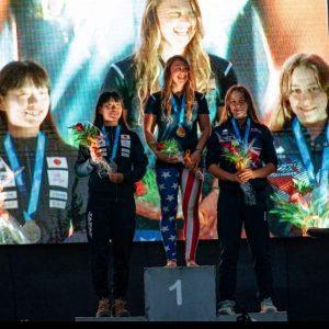 Ottilie on the medal podium