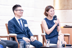 Alumni sharing stories at our Hong Kong centenary event