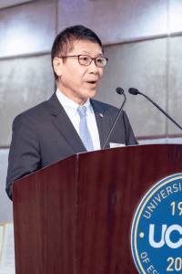 Sr Dr Tony Leung Ka Tung speaking at our Hong Kong centenary event