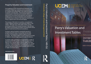 The book cover of the 14th edition of Parry's Valuation and Investment Tables