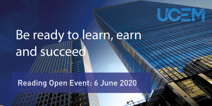 UCEM Reading Open Event Graphic