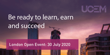 UCEM London Open Event Graphic