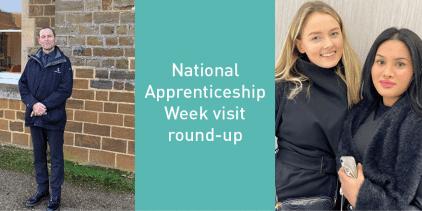 National Apprenticeship Week visit round-up graphic