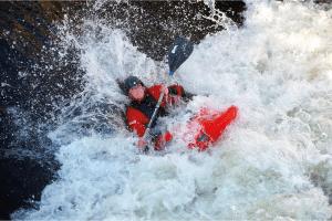 Ottilie kayaking