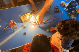 Solar energy demonstration at the Science Fair