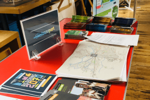 Information leaflets about sustainable transport at the Science Fair