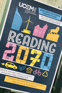 A poster for the 'Reading of the future' schools' competition