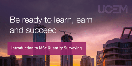 Introduction to MSc Quantity Surveying