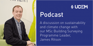Sustainability podcast graphic