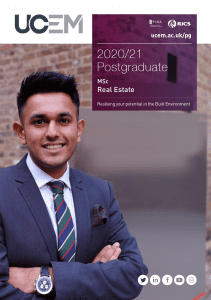 MSc Real Estate Programme Brochure Image